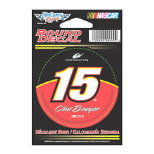 """CLINT BOWYER #15 NASCAR 5- HOUR ENERGY RACING 3"""" ROUND STICKER"""