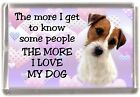 "Parson/Jack Russell Terrier Dog Fridge Magnet ""I LOVE MY DOG"" by Starprint"