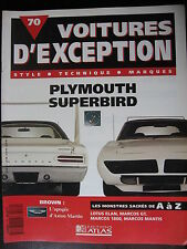 FASCICULE  70 VOITURE D'EXCEPTION PLYMOUTH SUPERBIRD BROWN LOTUS MARCOS