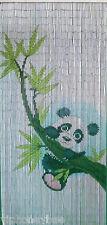 Bamboo Beaded Door Curtain- Cute Panda Bear Hanging in Bamboo Tree