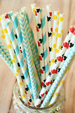 Alice in Wonderland Paper Straws 25pc multi pack birthday wedding party decor