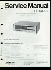 Orig Factory Technics/Panasonic RS-630US Stereo Cassette Deck Service Manual