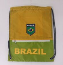 Brazil Cinch Bag Color Green & Yellow Official Licensed Product NWOT