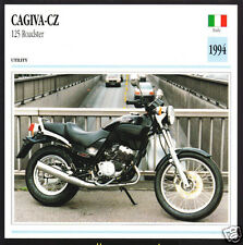 1994 Cagiva-CZ 125cc Roadster 124cc Italy Motorcycle Photo Spec Sheet Info Card