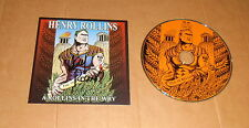 Henry Rollins, original signed CD-cover * a rollins en the wry * + CD