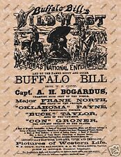 BUFFALO BILL'S WILD WEST POSTER Wild West Pictures of Western Life 020