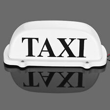 "12V 10 LED Taxi Cab Sign Roof Top Topper Car Super Bright Light Lamp 10"" White"
