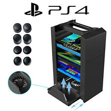 Console Vertical Stand Cooling Fan Game Storage Tower for PS4 pro / slim XboxOne