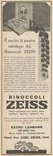Z3263 Binoccoli ZEISS - Pubblicità d'epoca - 1928 Old advertising