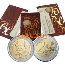 NEW !!! 2 EURO COMMEMORATIVO SAN MARINO 2016 William Shakespeare NEW !!!