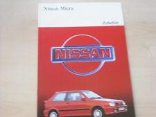 53515) Nissan Micra Zubehör Prospekt 09/1989