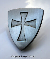 ZP285 Knights Templar Shield Crusader St George Crusade Cross Pin Badge Medieval