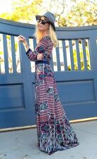 NWT SZ S ANTHROPOLOGIE PATCHWORK MAXI DRESS BY CHLOE OLIVER BOHO BEAUTY! LAST 1!