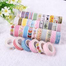 5X 10m Washi Masking Tape DIY Basteln Klebeband Papierband Reispapier 0,07 Eur/m