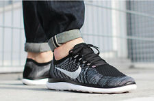 NIKE FREE 4.0 FLYKNIT Running Trainers Shoes Gym Casual UK Size 9 (EUR 44) Black