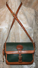 DOONEY & BOURKE ALL LEATHER VINTAGE EXC CONDITION SURREY BUCKLE FRONT IVY/TAN