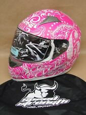 New Speed and Strength SS500 6 Speed Sisters Motorcycle Helmet L Pink 87-5700