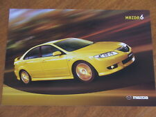 2003 Mazda 6 original Australian Features Specifications and Colours brochure