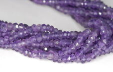 3X2MM AMETHYST GEMSTONE PURPLE GRADE AAA FACETED RONDELLE LOOSE BEADS 13.5""