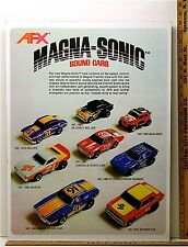 1983 Aurora AFX HO Slot Car Art Work Mans Room MAGNA-SONIC Framed Advertising A+