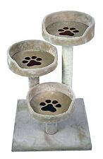 "28"" Cat Tree Three Bed Sisal Scratch Pole Post Pet Bed Kitten Cat Tower Condo"