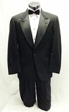 41 R Mens Classic Black One Button Tuxedo Jacket Tux Coat Cheap Formal Theater
