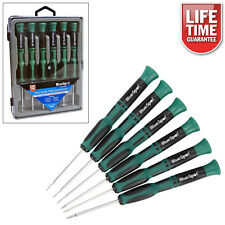 6PC PRECISION TORX STAR SCREWDRIVERS SET T5-T10 WITH CASE LIFETIME GUARANTEE