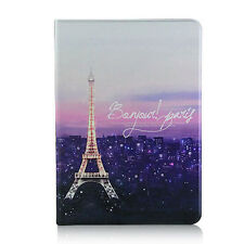 Romantic Nightsky Paris Eiffel Tower Leather Case With Screen Cover For iPad Air