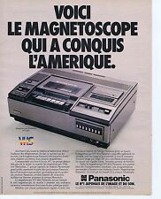 Publicité Advertising 016 1980 Panasonic le magnétoscope