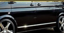 VW Transporter Caravelle MK VI T6 - CHROME SIDE DOOR COVERS TRIM STRIP 3M Tuning
