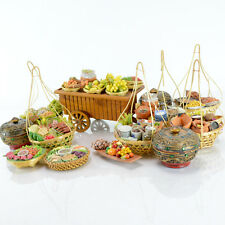 Mini Market Display Wagon Fake Fruit Vegetables Baskets Small Foreign Imported