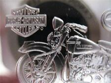 1.4+OZ.999 PURE SILVER HARLEY DAVIDSON 90TH ANNIVERSY BAR 1948 74/PAN HEAD +GOLD