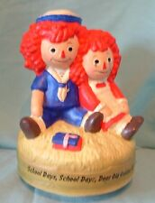 """Raggedy Ann and Andy Musical Figurine 1972 Chadwick Miller 6"""" Made in Japan"""