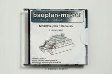 TOP Bauplan, Modellbauplan Katamaran, Nachbau Yacht Anahi, M 1:27,5, RC-fähig!