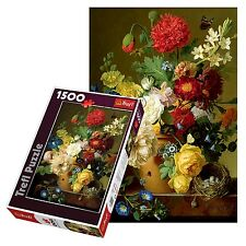 Trefl 1500 Piece Adult Large Flowers Tall Colourful Vase Floor Jigsaw Puzzle NEW