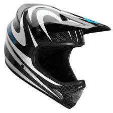 SixSixOne 661 EVO Camber Carbon MTB Bicycle Helmet Black White Adult Large LG L