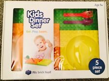 Placematix Kids Dinner Set Interlocking Kids Tableware Brick