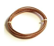 Bronze Fancy Twisted Wire (14 Ga)  5 Ft Coil - See Description / Made In USA #20