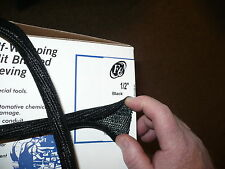 "1/2"" - 3/4"" and 1.0"" -- 10 feet each size - SPLIT BRAIDED SLEEVING F6  black  -"