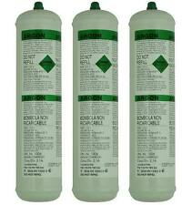 3 X Pure Argon Disposable Gas Bottles 390G 60L