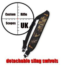 Rifle / shotgun sling in camo, Neoprene with quick detachable QD QR sling swivel