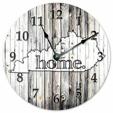 "KENTUKY RUSTIC HOME STATE CLOCK - Large 10.5"" Wall Clock - 2226"