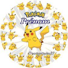 Feuille Disque azyme Comestible Pokemon Pikatchu A Personnaliser Gateau Dim 20cm