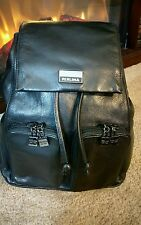 Black Leather Backpack Perlina New York