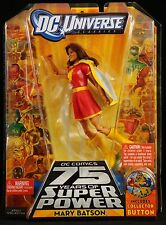 "2009 MATTEL DC UNIVERSE CLASSICS W12 MARY MARVEL BATSON RED 6"" ACTION FIGURE MOC"