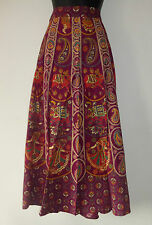 Ladies Burgundy Indian Cotton Wrap Skirt * Full Length* Classic Design (LDS38)