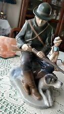 Royal Copenhagen Denmark Hunter with Dog Figurine 1087 Christian Thomsen 8 1/2""