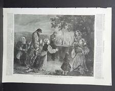HARPER'S WEEKLY Single Page S2#077 Nov 1873 Praying for Deliverance from Cholera