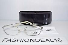 New Montblanc Authentic MB 378 Silver Beige MB378 016 53-16-135 RX Eyeglasses