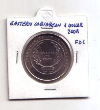Eastern Caribbean  1 dollar 2008     FDC  UNC     (m558)